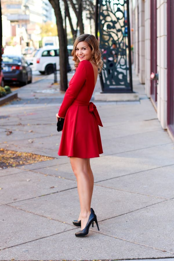 f843241b9636 Red Holiday Dress