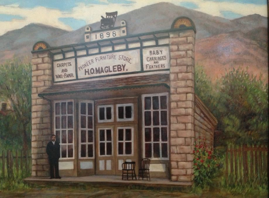 H O Magleby Furniture Store Monroe Utah Painting By