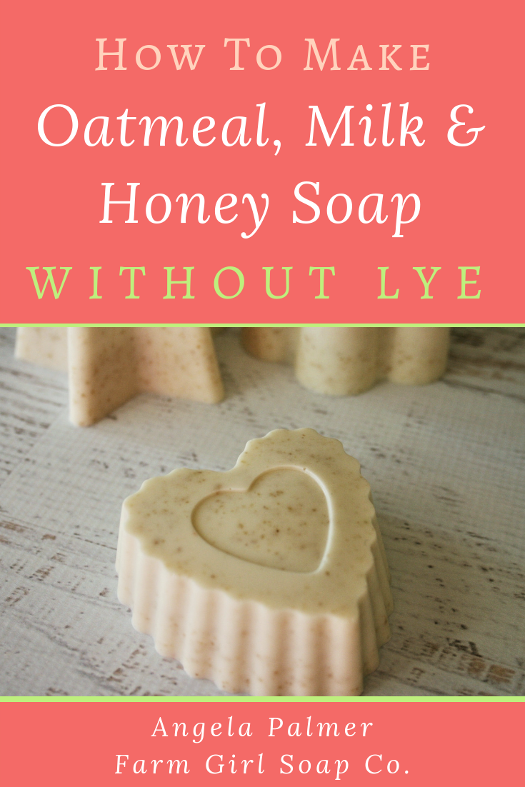 An awesome-yet-easy oatmeal, milk, and honey soap recipe you can make without lye. Oatmeal Soap Recipe | Goat's Milk Soap Recipe | Oatmeal Milk and Honey ...