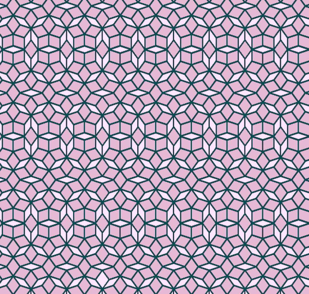 Easy triangle quilting patterns mind games penrosen arabic a periodic rhombus tiling that is not a penrose tiling dailygadgetfo Images