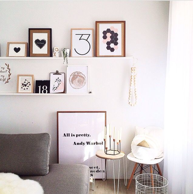 Beautiful clean fresh modern style by @misskyreeloves featuring Yorkelee Prints art prints. @yorkelee_prints