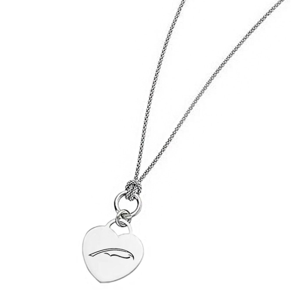Alpha Xi Delta Symbol Heart Necklace With Popcorn Link Chain