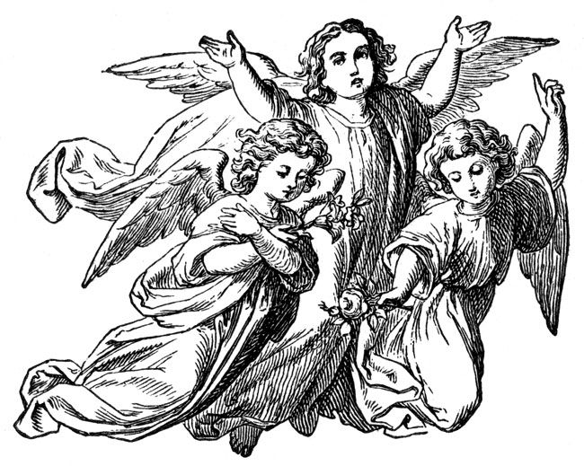 15++ Guardian angel clipart black and white ideas