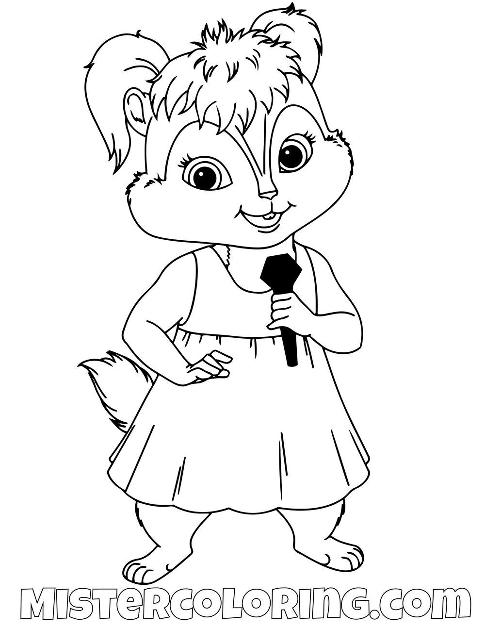 Eleanor The Chipettes Alvin And The Chipmunks Coloring Pages For