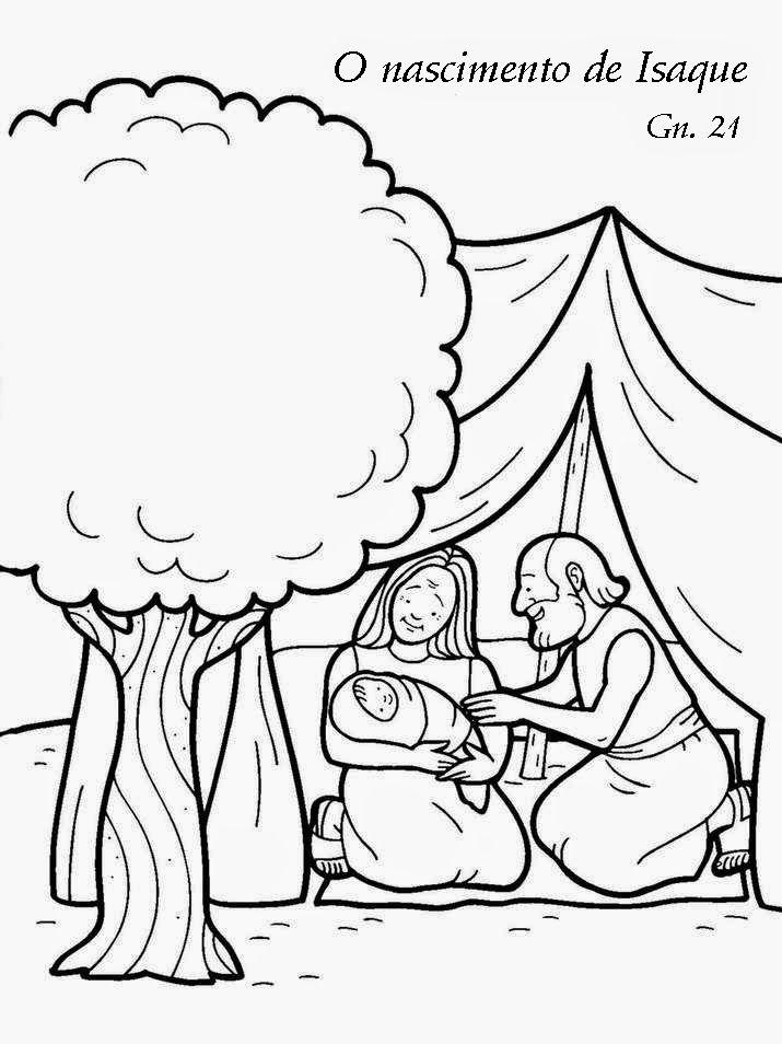 O Nascimento De Isaque Historia Biblica Artesanato Da Escola