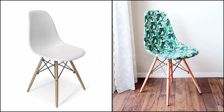 Diy Customiser Une Chaise Plastique Style Eames Customiser Chaise Chaise Plastique Decor Diy