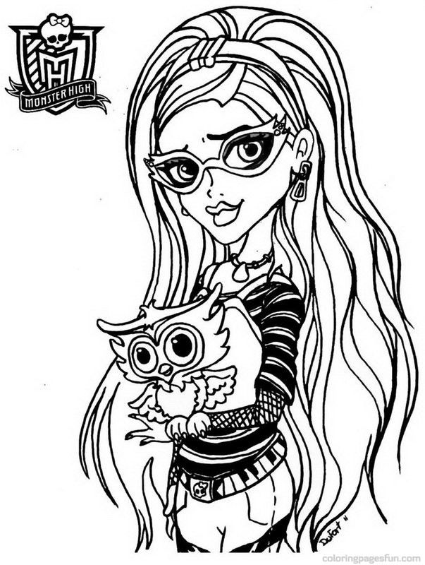 printable monster high coloring pages # 12
