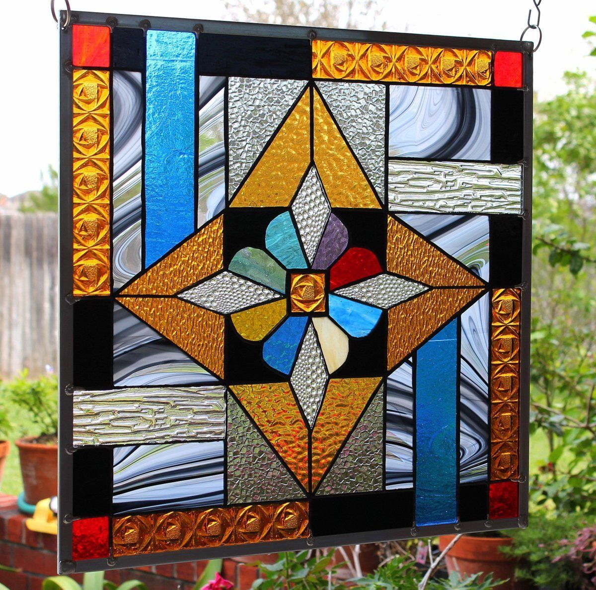 Stained Glass Window Panel Star Bright Stained Glass Windows Stained Glass Stained Glass Diy