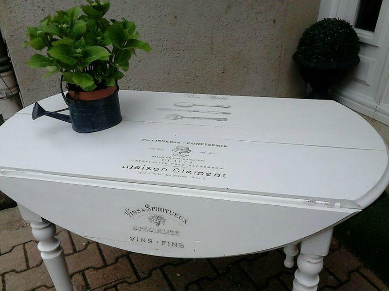 Table avec rabats relook e diy furniture pinterest ideas de muebles mesitas auxiliares y - Mesitas auxiliares originales ...