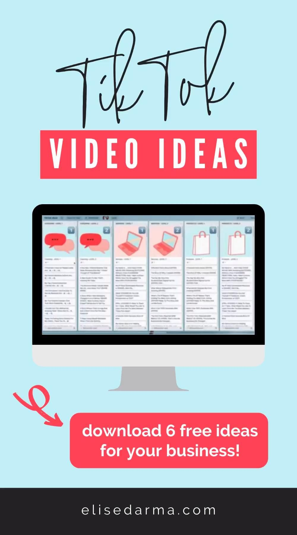 Get 6 Free Tiktok Video Ideas For Your Business Video Personal Marketing Business Video Network Marketing Business
