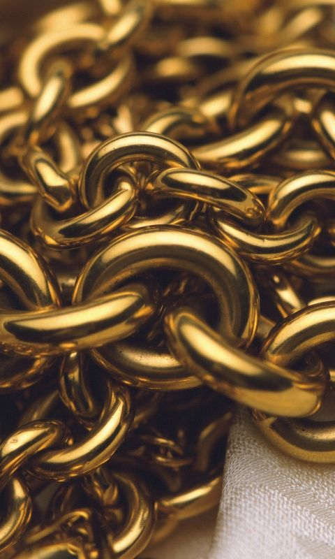 480x800 Wallpaper Chain Gold Close Up Gold Chain Wallpaper Gold Aesthetic Gold Wallpaper