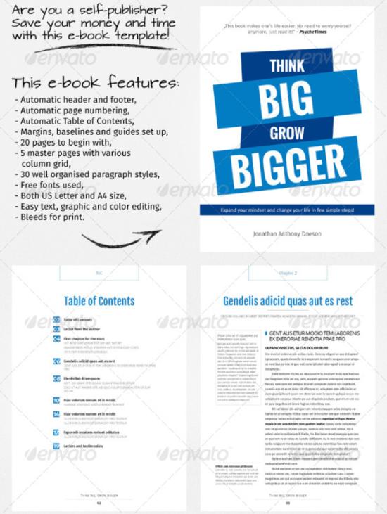 E-book Template 6 | Templates | Pinterest | Print..., Template and Book