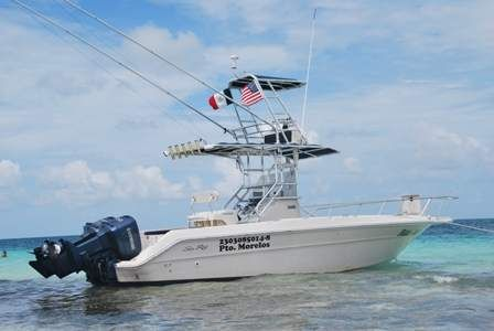 Fishin Boat Is A 24 Foot Sea Ray Laguna Docked In Puerto Morelos
