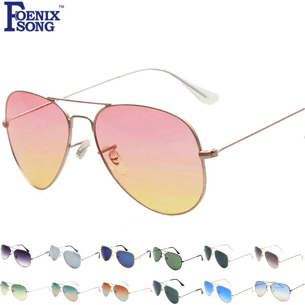 5b0f576d3c0 FOENIXSONG Brand New Designer Sunglasses for Women Pilot Classic Fashion  Eyewear Gradient Mirrored Lens Men Sun Glasses Oculos
