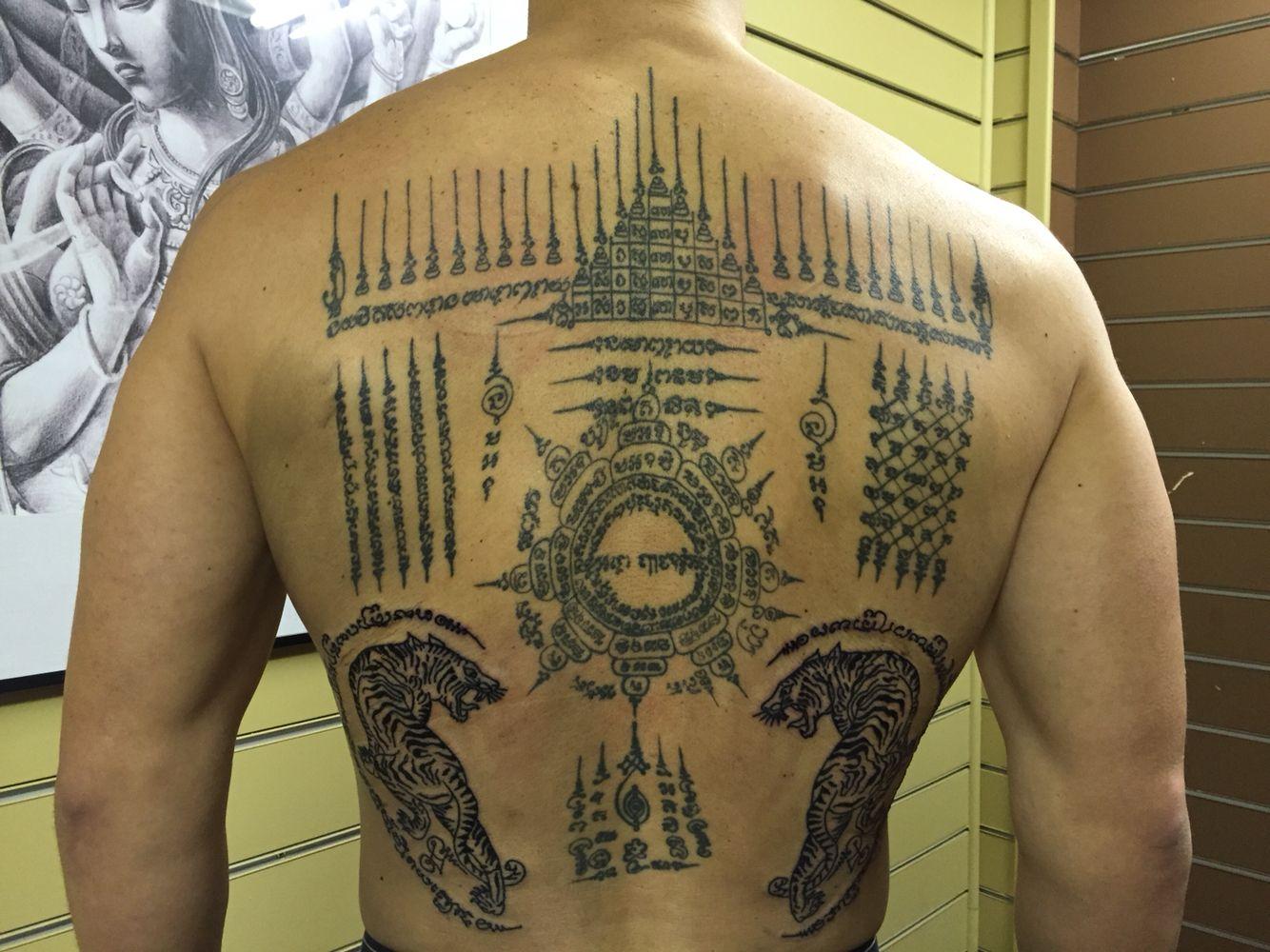 Tatouage de protection bouddhiste galerie tatouage - Symbole protection tatouage ...