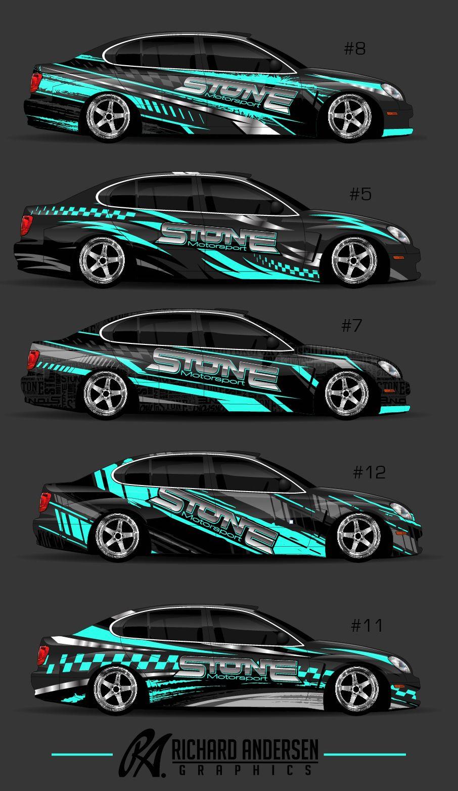 Race car sticker design - Wrap Design By Richard Andersen Https Ragraphics Carbonmade Com Vehicle Wrapsracingstickersadvertising
