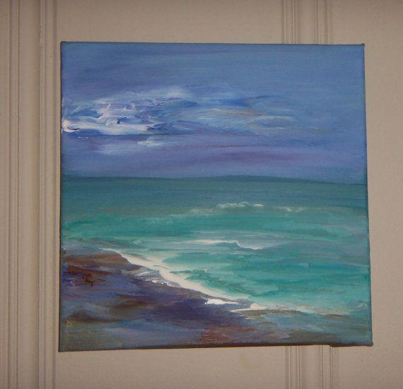 Original Acrylic Seascape Painting by Sheri 12x12 by sherischart