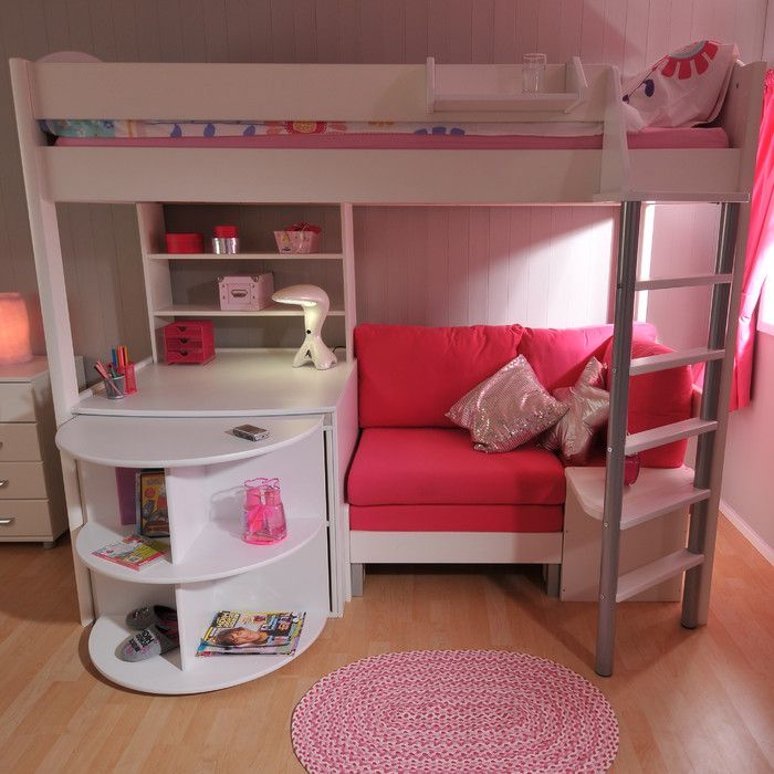 girls charleston white with and twin kids pink desk furniture gallery loft bed bunkbed bedroom beds home bunk storage