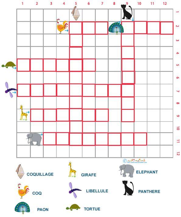 Bien connu mots fléchés : exemple de grille | Ce1 | Pinterest | Mots fleches  OY06