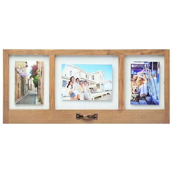 Melannco 3-Opening Door Collage Frame, White (2.495 RUB) ❤ liked on ...