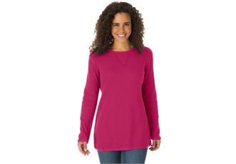 Top, sweatshirt in soft, colorful thermal knit Plus Size Fashion from Woman Within