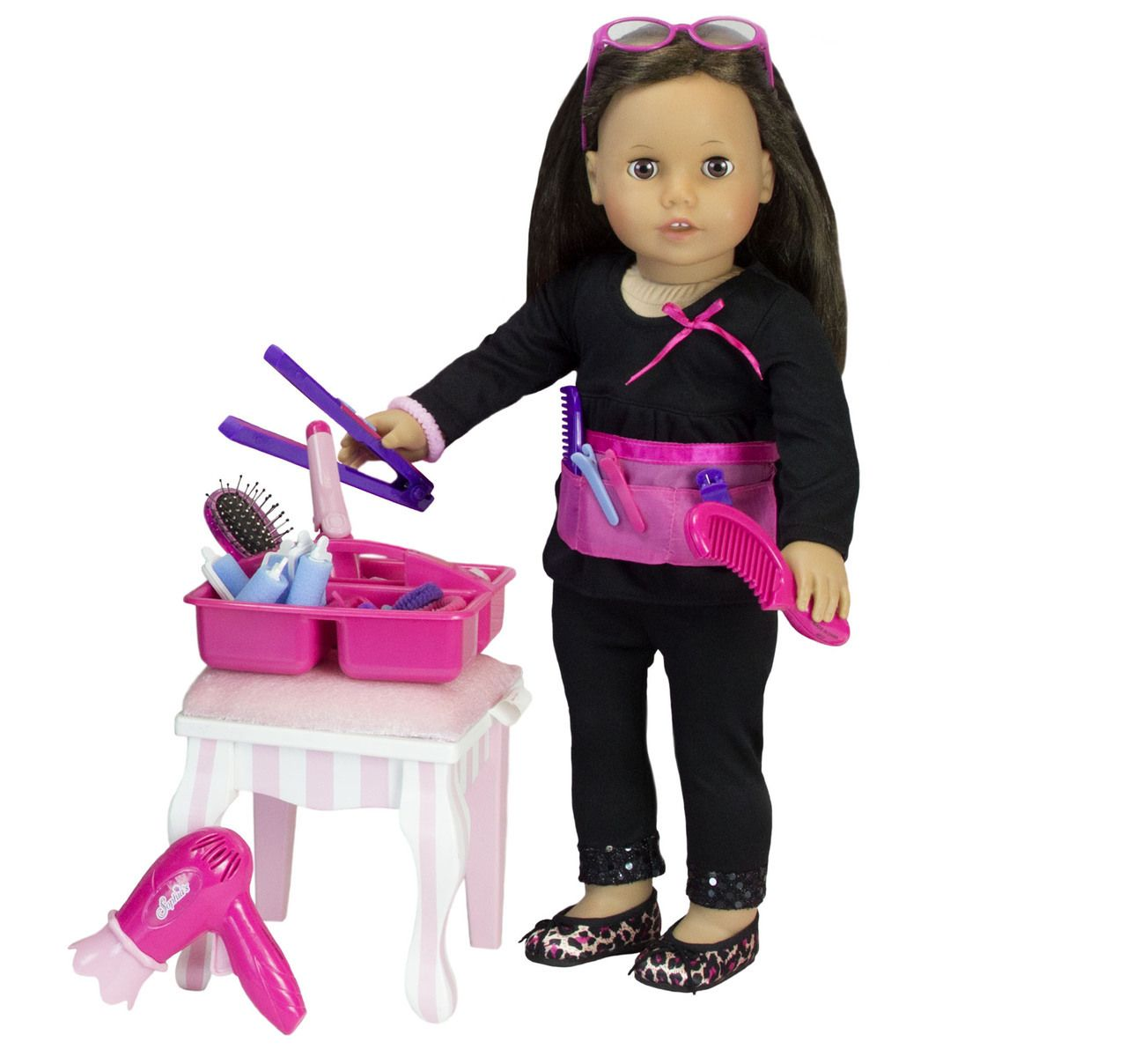 Hair Salon Set For 18 Inch Dolls American Girl Doll Hairstyles Hair Salon Doll Hair