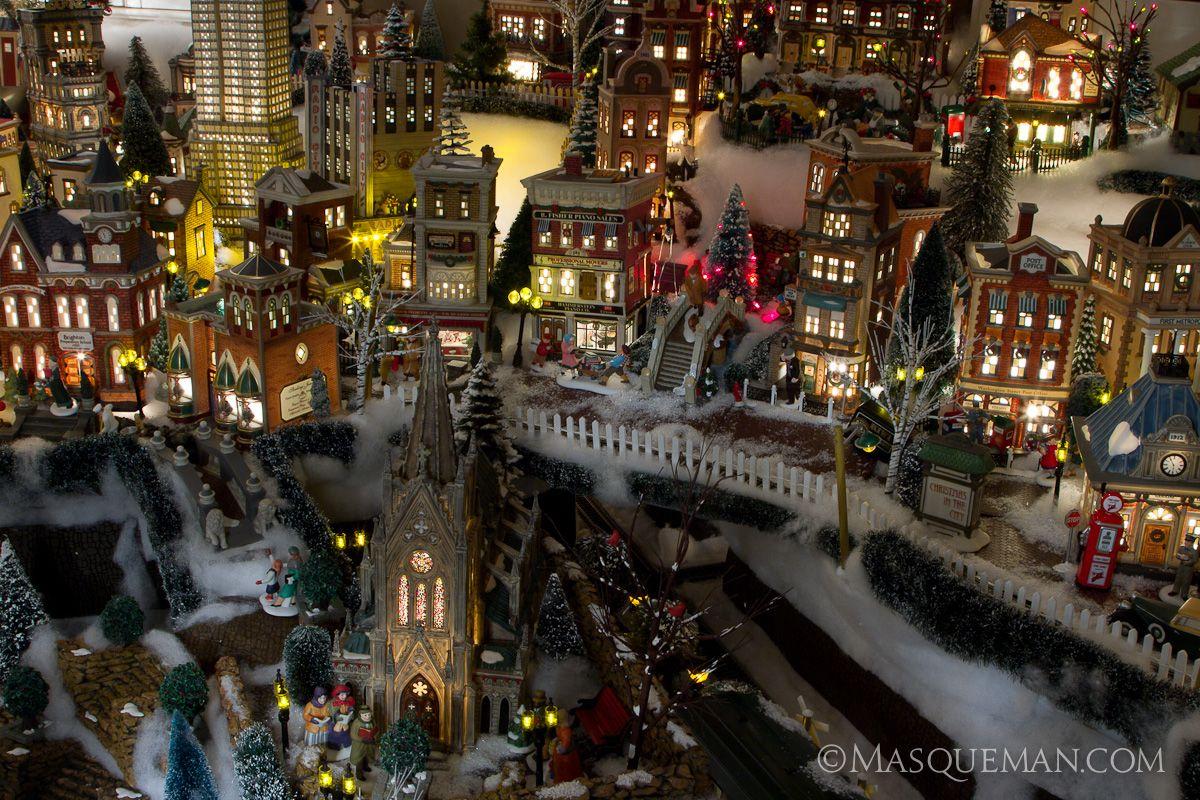 Photographing a Miniature Christmas City by Department 56 ~ Andrew Hughes of Masqueman Photography & Design - Atlanta, GA