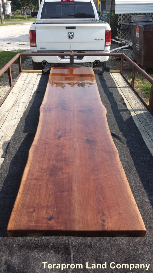 CUSTOM Live Edge Walnut Bar Top Sustainably Harvested by Teraprom