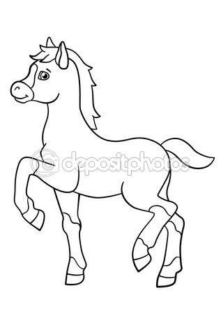 Disegni da colorare animali da fattoria carino piccolo for Disegno cavallo per bambini