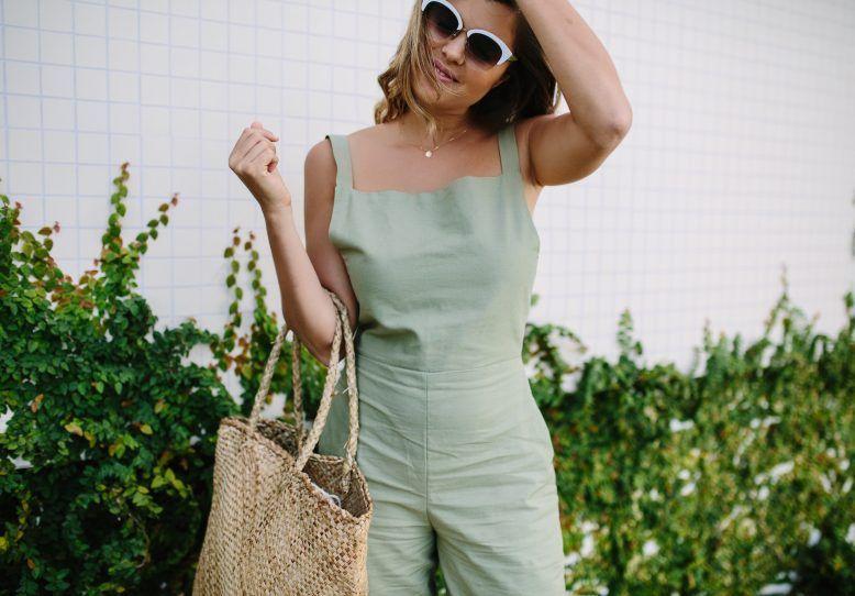 A Pair & A Spare | DIY Linen Jumpsuit