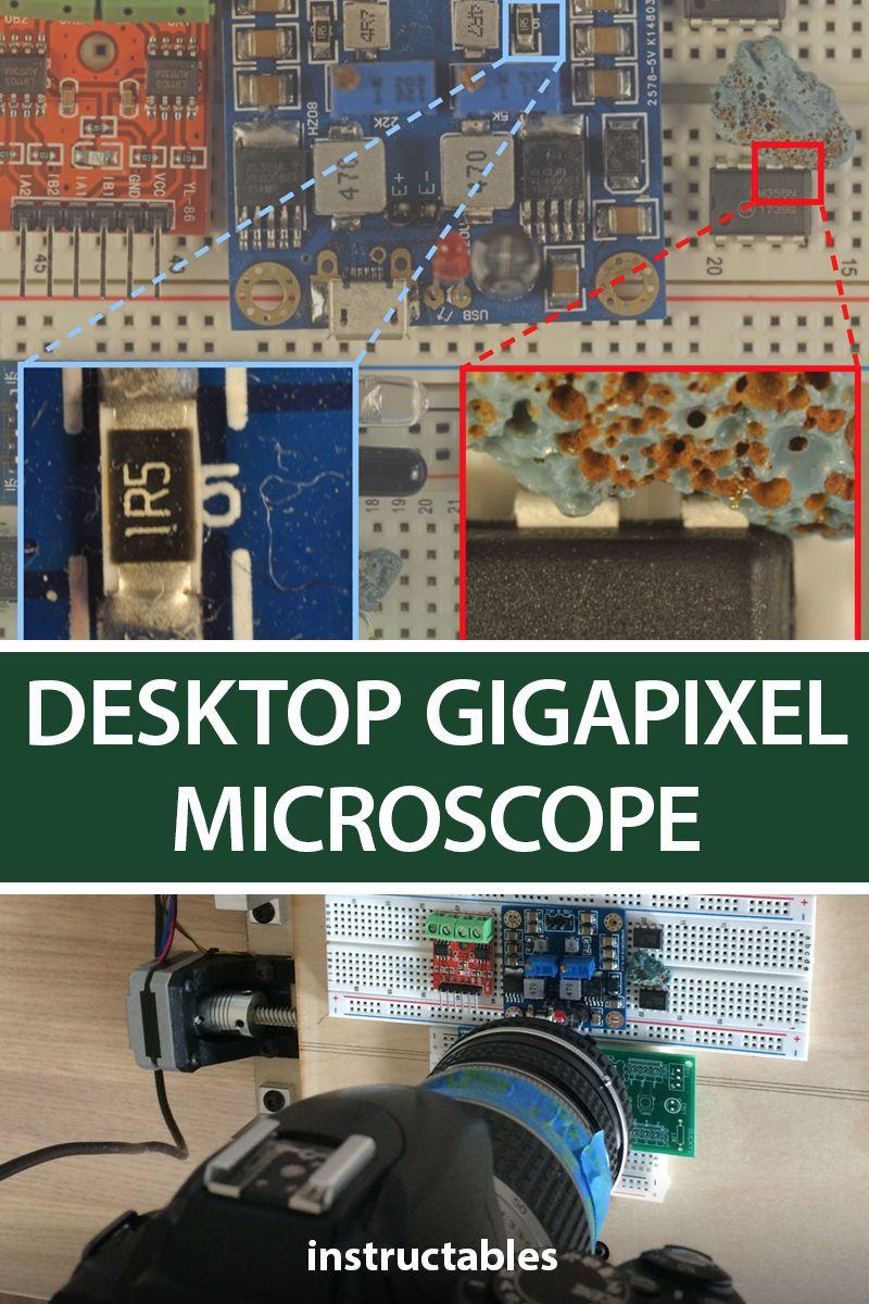 Desktop Gigapixel Microscope Build A Desktop Smartphone