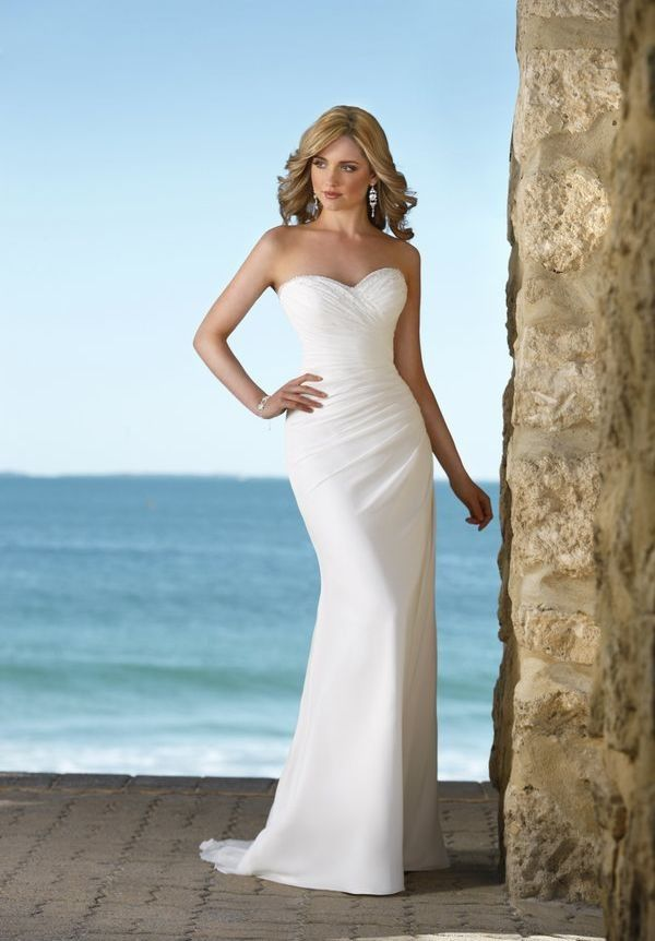Bride > Chiffon Strapless Sweetheart Mermaid Simple Wedding Dress ...