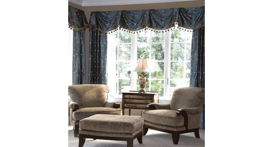 Master Bedroom Sitting Area:  Furniture, Draperies by Robin Rogers Interior Design