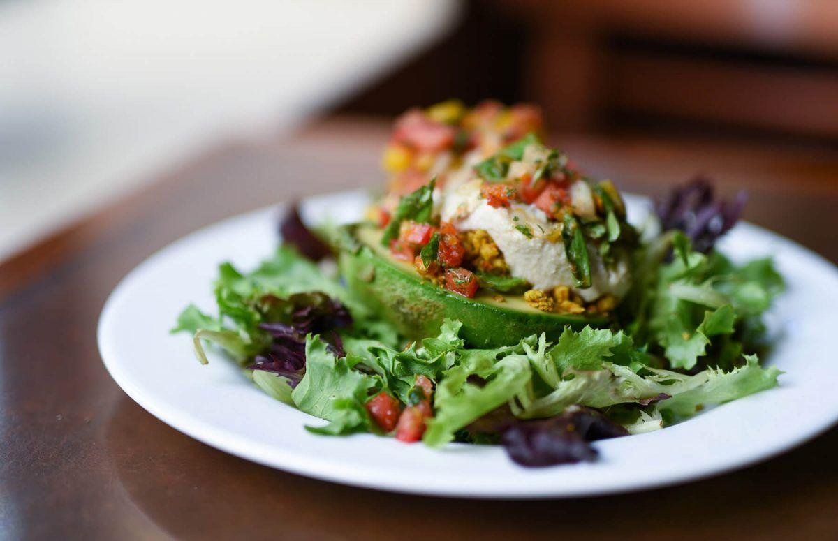 Dining Seasoned Vegan Harlem Stuffed Avocado Ny Restaurants Vegan Restaurants Vegan