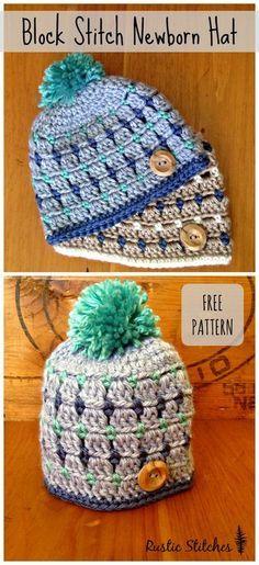 Crochet Newborn Hat Free Pattern Baby Beret Pinterest