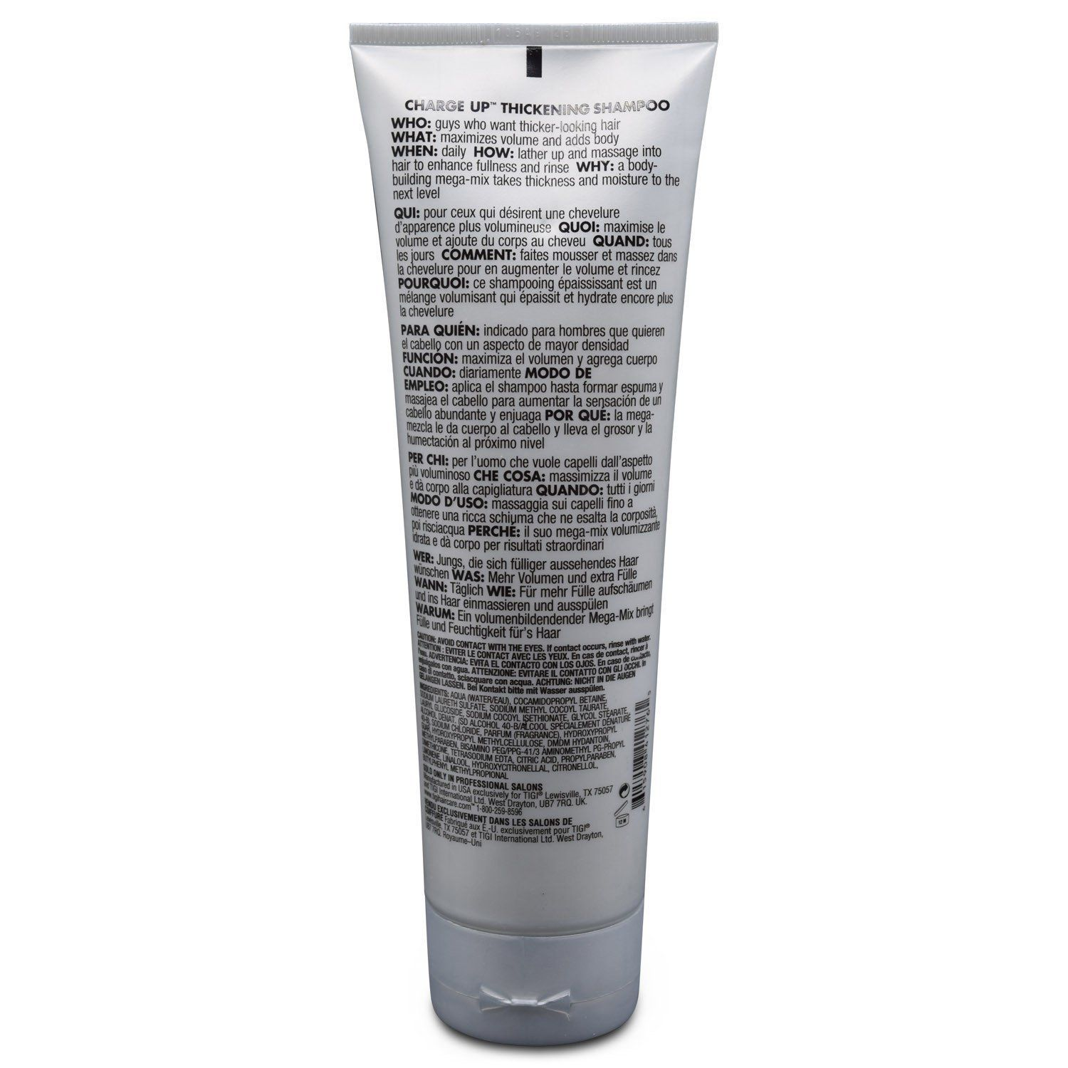 Men TIGI Bed Head B For Men Charge Up Thickening Shampoo 8