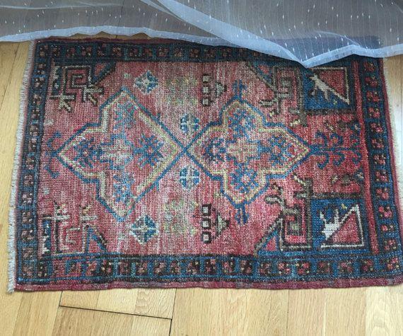 Antique Fethiye Carpet Double Knotted Turkish Rug Vintage