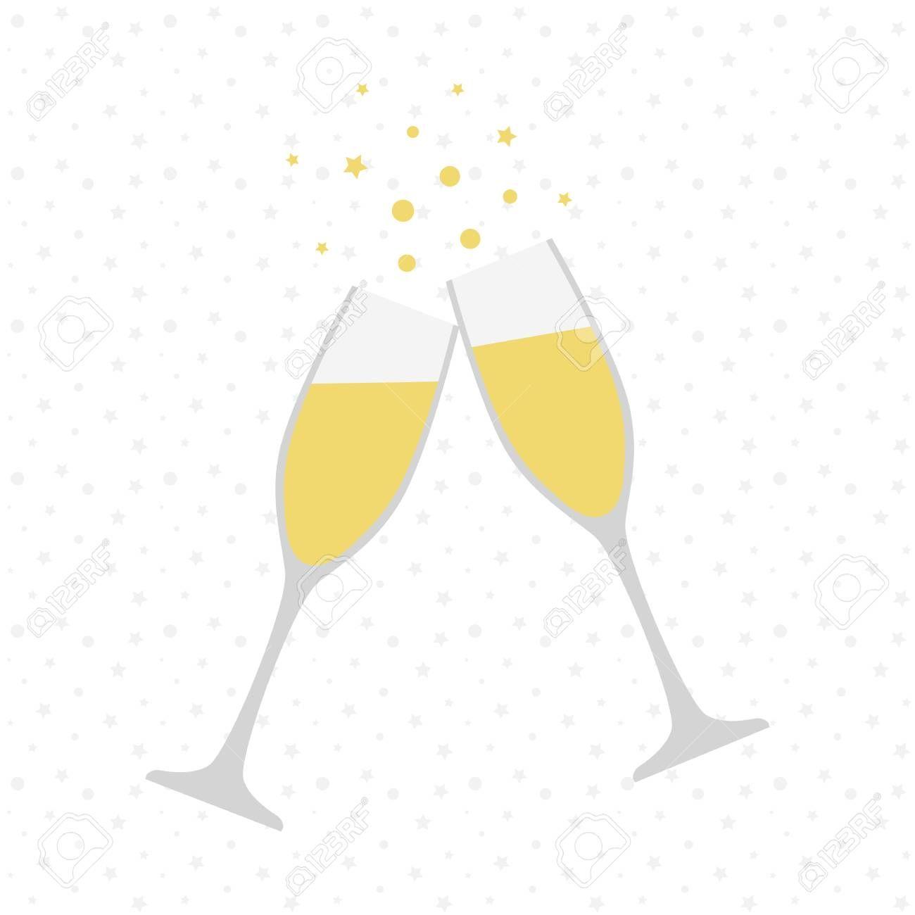 Two Champagne Glasses Cheers Celebration Holiday Toast Vector Illustration Illustration Sponsored Cheers Celebrati Sektglaser Hochzeit Feiertag Feier