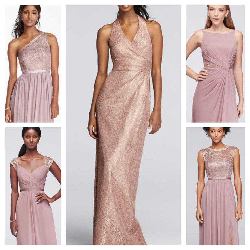 These are the five dresses that my bridesmaids are wearing they are