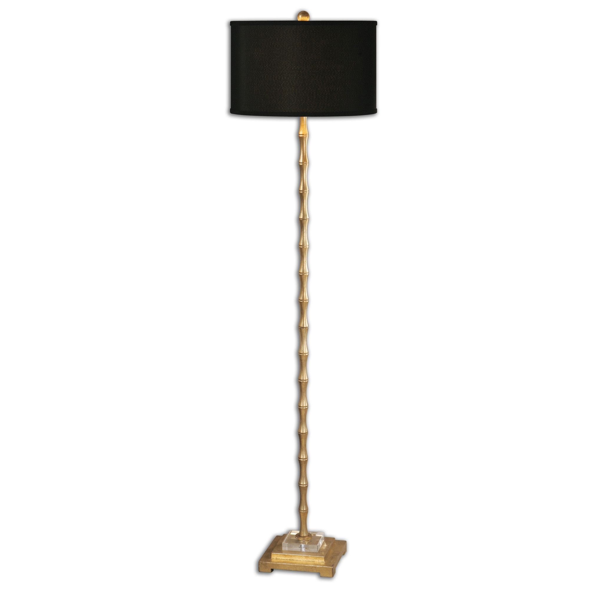 Bamboo Floor Lamp - Antique Gold