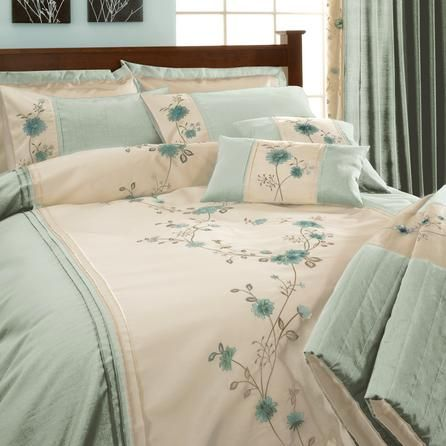 elegant blue and cream bedding duck egg ruby collection. Black Bedroom Furniture Sets. Home Design Ideas