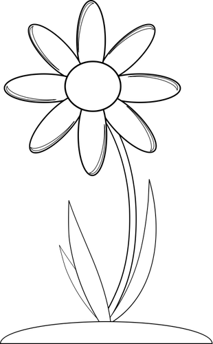 daisy coloring pages no stem - photo#45