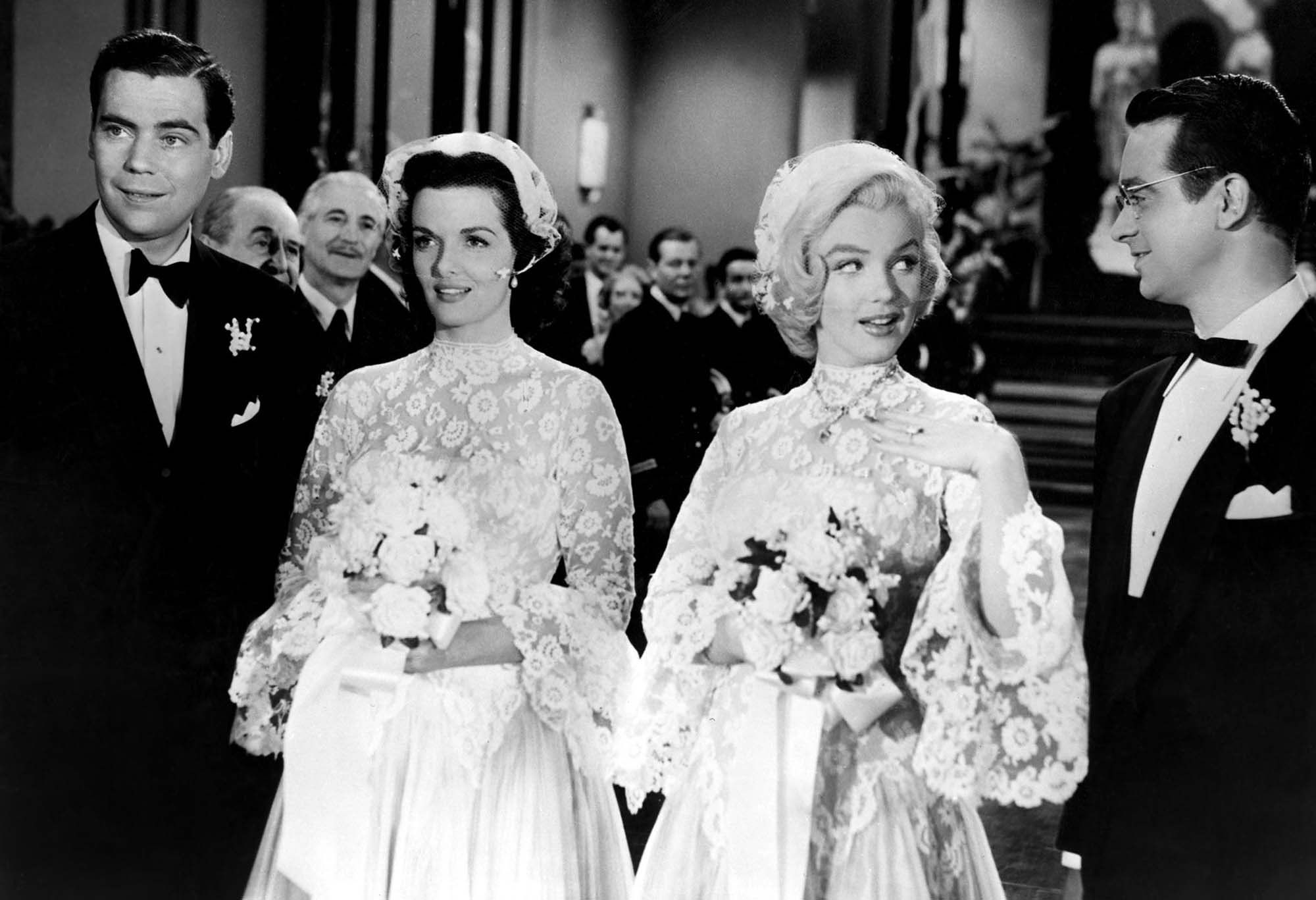 Jane Russell And Marilyn Monroe In Gentlemen Prefer Blondes 1953: Gentlemen Prefer Blondes Wedding Dress At Websimilar.org
