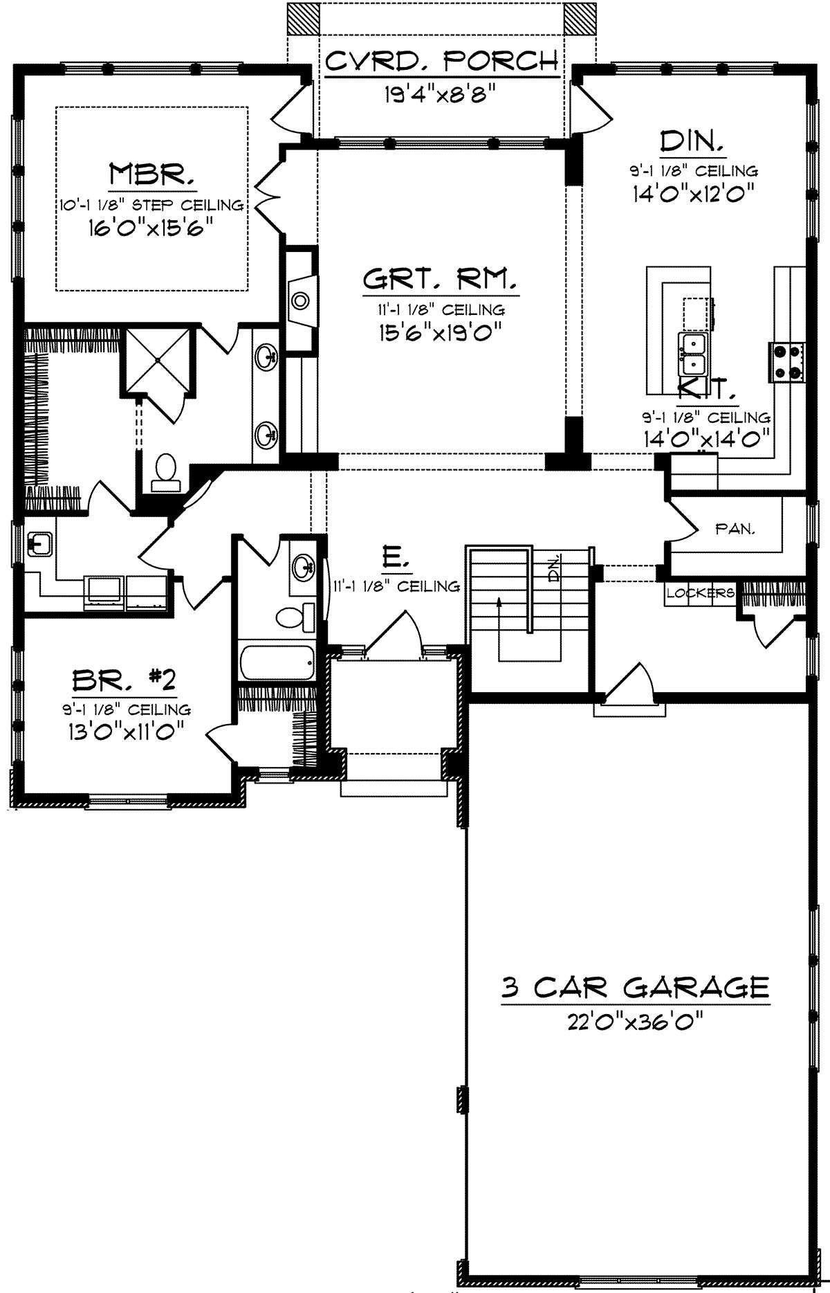 House Plan 1020 00306 Southwest Plan 1 993 Square Feet 2 Bedrooms 2 Bathrooms Narrow Lot House Plans Craftsman House Plans House Blueprints