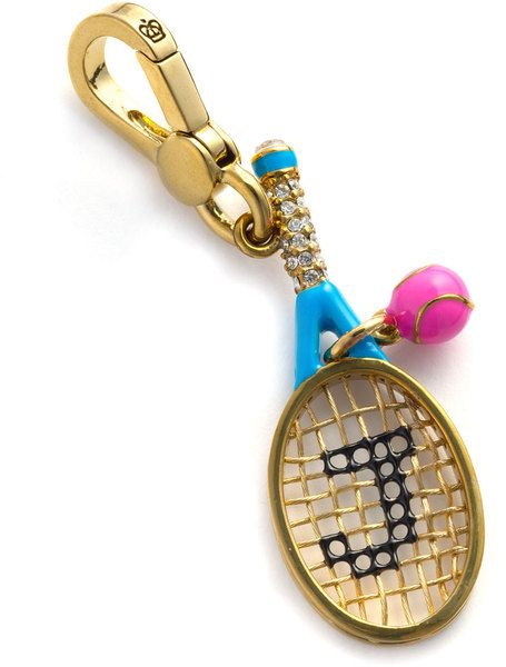 Juicy Couture Tennis Racquet Charm in Gold
