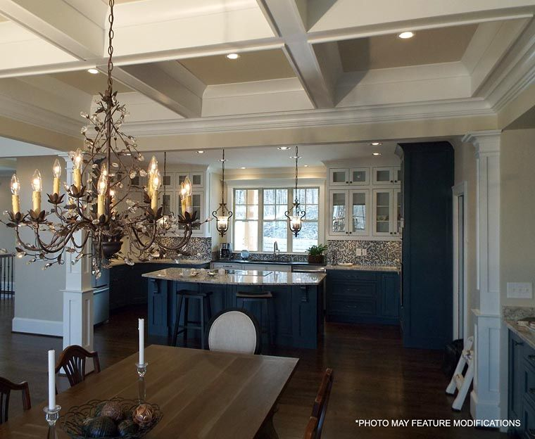 house plan 98267 at familyhomeplans ceiling | kitchen