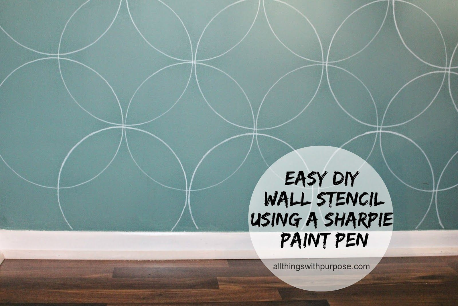 Easy Diy Wall Stencil With A Paint Pen Easy Wall Stencil Sharpie Wall Stencils Wall