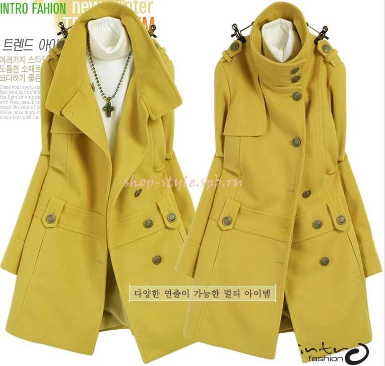 4327957356d2 Пальто воротник стойкой - интернет-магазин женской одежды,одежда из кореи,  женская одежда