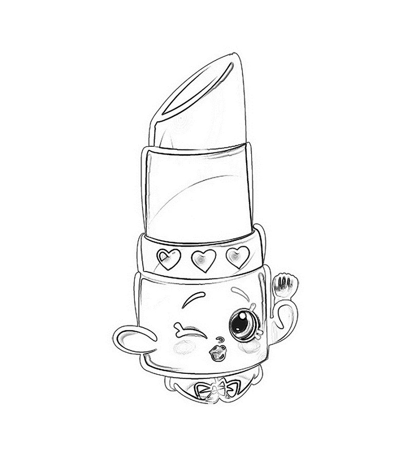 Lippy Lips Coloring Page Shopkins Colouring Book Coloring Pages Coloring Pages For Kids