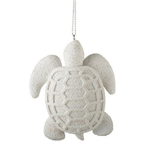 Hawaiian Christmas Tree Topper: Sandy Sea Turtle Resin Stone Christmas Tree Ornament
